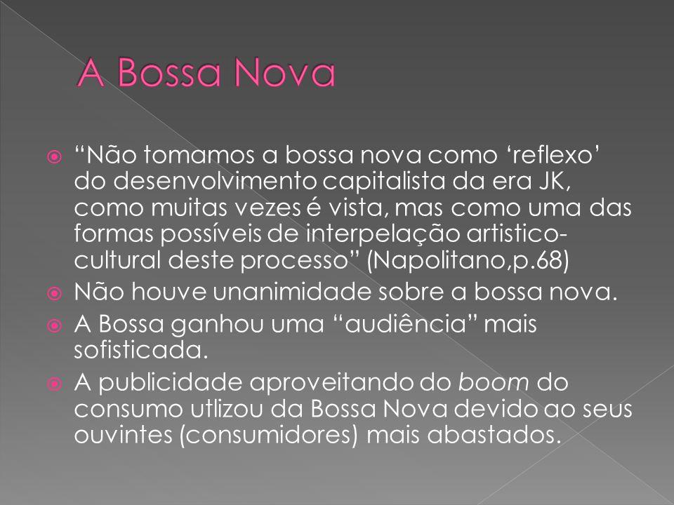 Entre 1959 e 1962 – A Bossa Nova consagrou-se.Vendagem de discos.