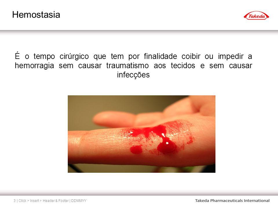 Hemostasia | Click > Insert > Header & Footer | DDMMYY3 É o tempo cirúrgico que tem por finalidade coibir ou impedir a hemorragia sem causar traumatis