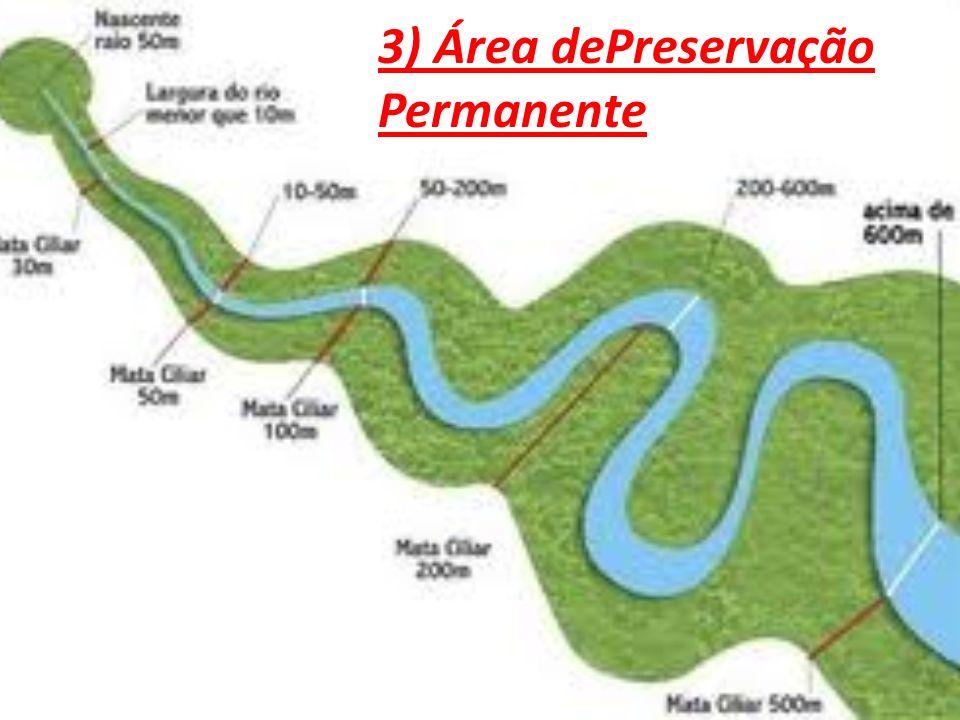 3) Área dePreservação Permanente