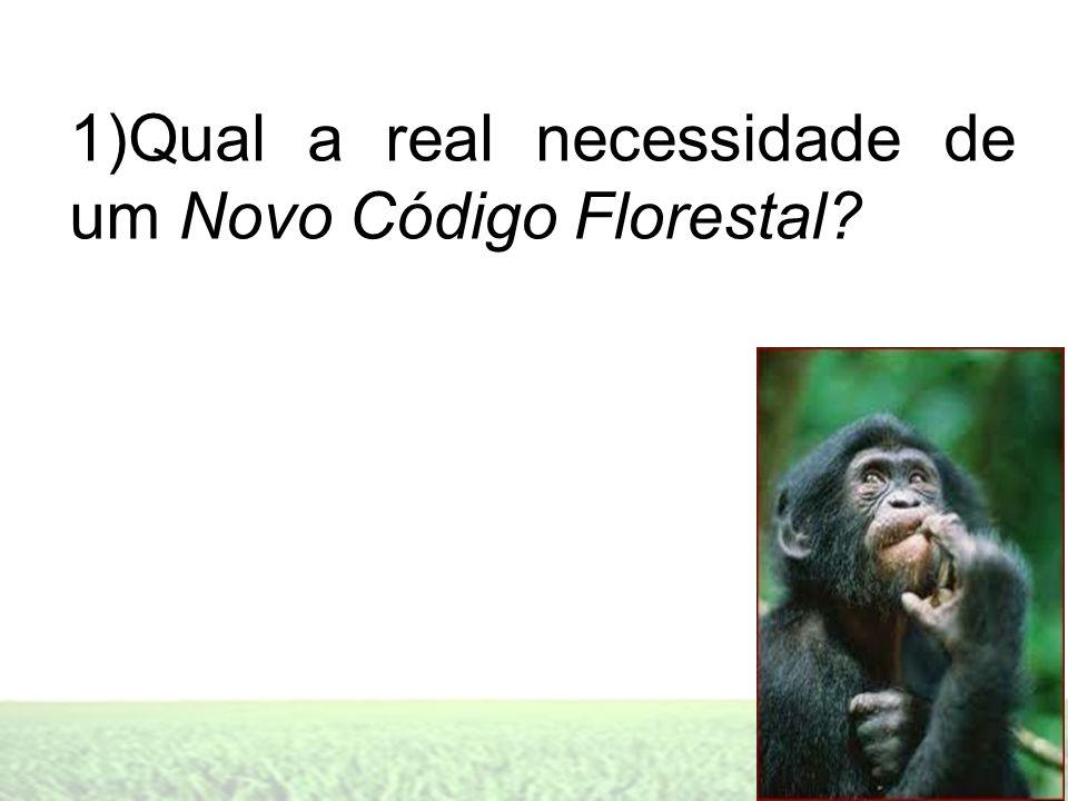 1)Qual a real necessidade de um Novo Código Florestal?
