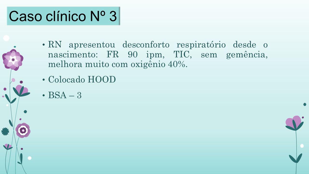RN apresentou desconforto respiratório desde o nascimento: FR 90 ipm, TIC, sem gemência, melhora muito com oxigênio 40%.