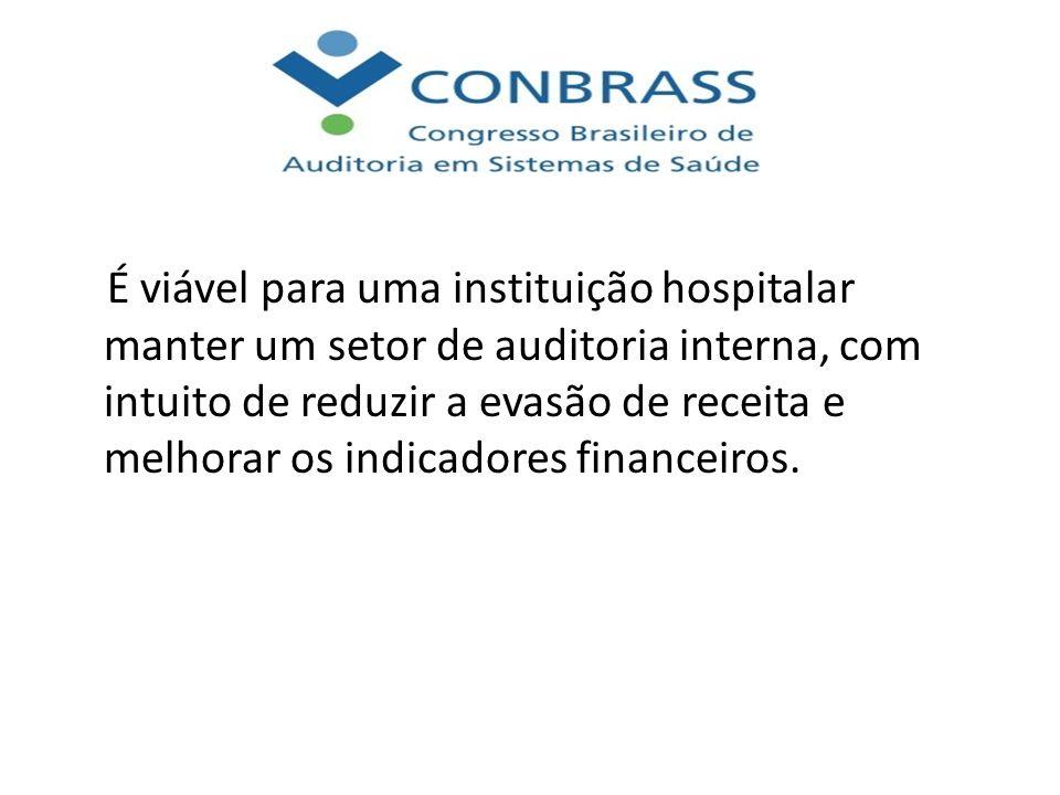 É viável para uma instituição hospitalar manter um setor de auditoria interna, com intuito de reduzir a evasão de receita e melhorar os indicadores fi