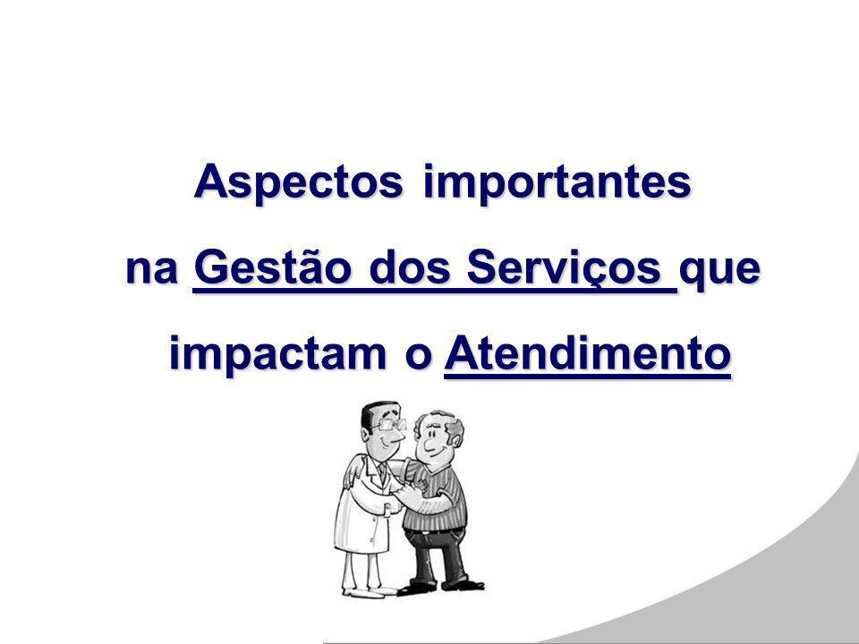 Aspectos importantes na Gestão dos Serviços que impactam o Atendimento impactam o Atendimento