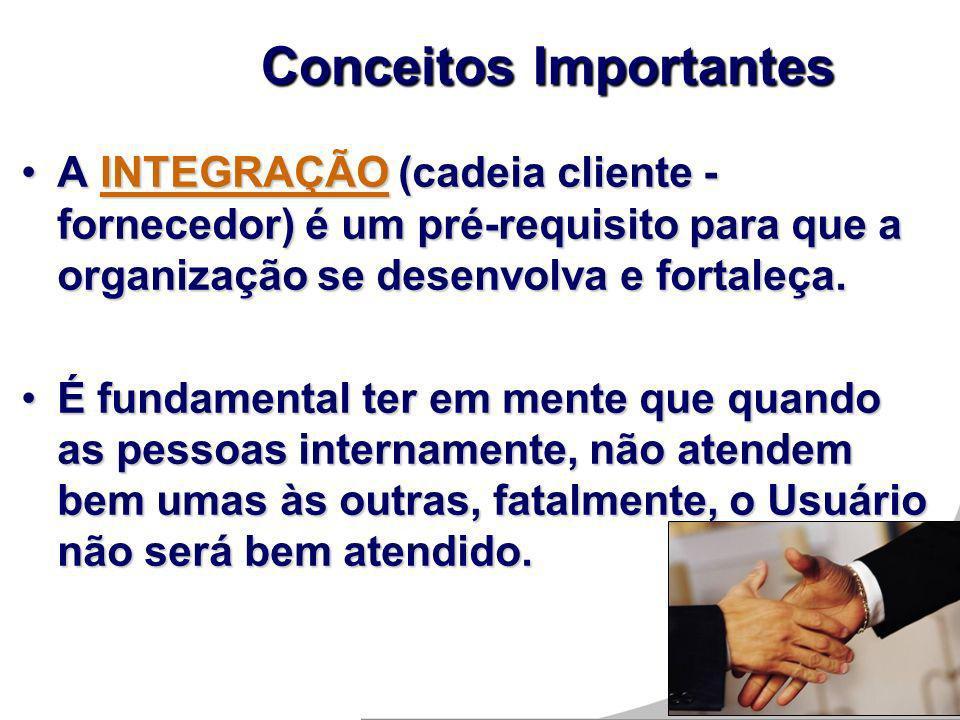 A INTEGRAÇÃO (cadeia cliente - fornecedor) é um pré-requisito para que a organização se desenvolva e fortaleça.A INTEGRAÇÃO (cadeia cliente - forneced