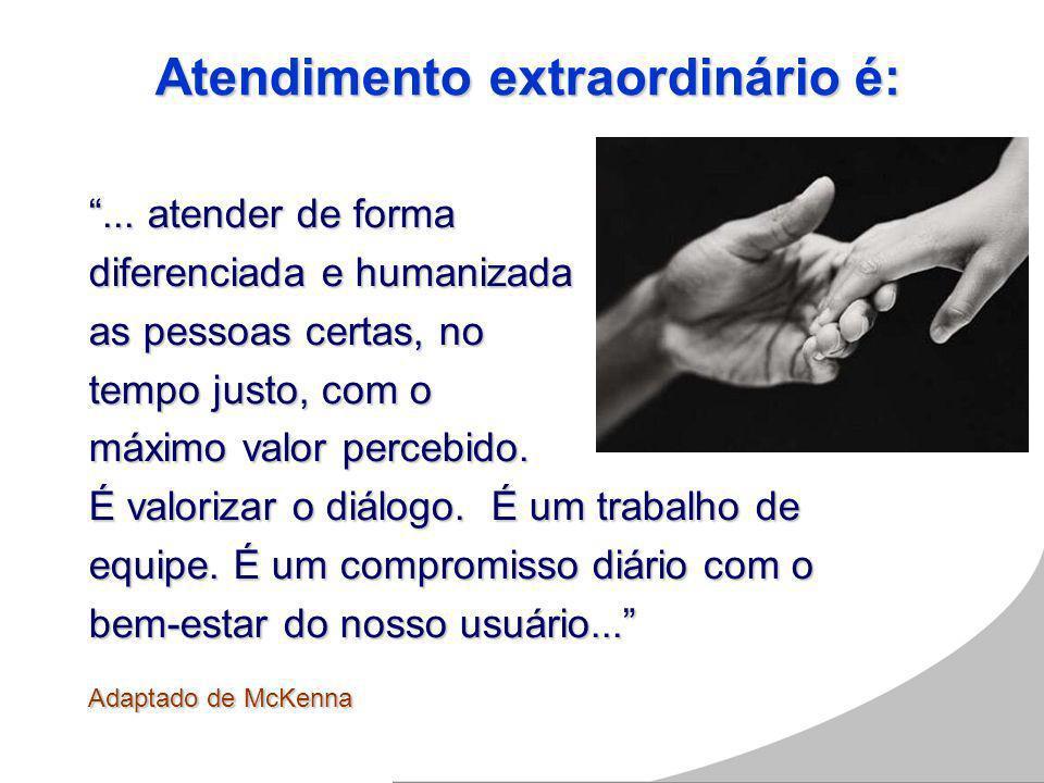 O Atendimento é considerado o FATOR determinante para conquistar e satisfazer os usuários.O Atendimento é considerado o FATOR determinante para conquistar e satisfazer os usuários.