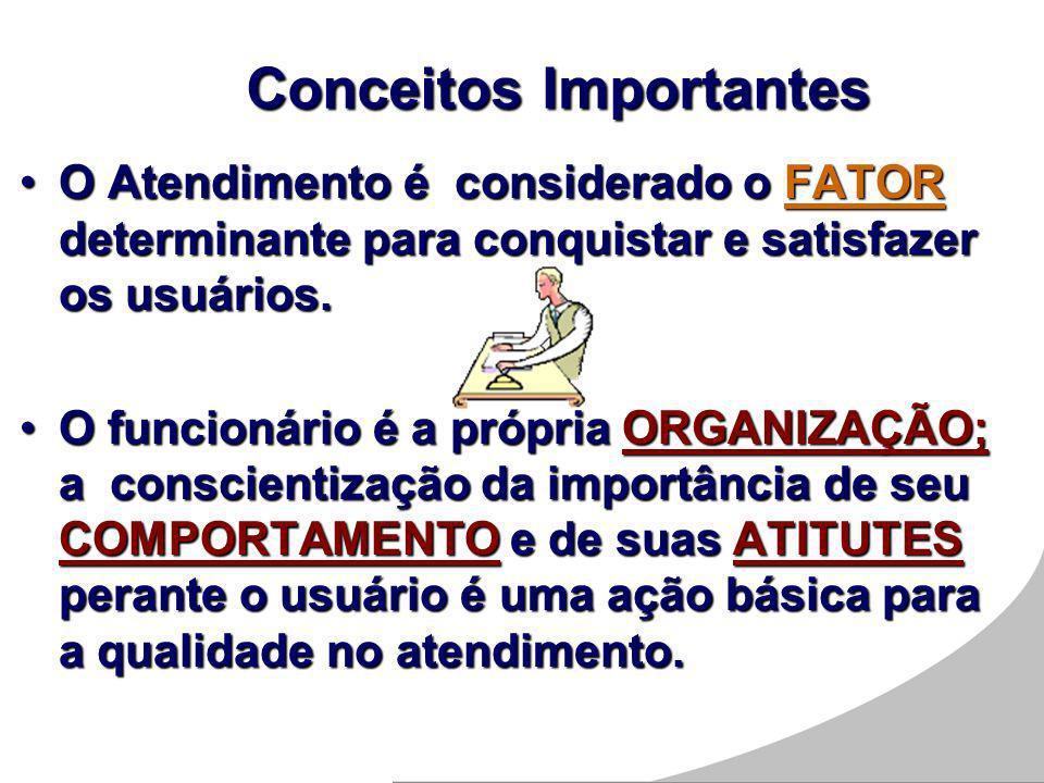 O Atendimento é considerado o FATOR determinante para conquistar e satisfazer os usuários.O Atendimento é considerado o FATOR determinante para conqui