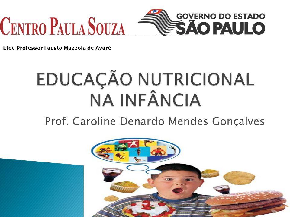 Prof. Caroline Denardo Mendes Gonçalves _____________________________________________________________________________________________ Etec Professor F