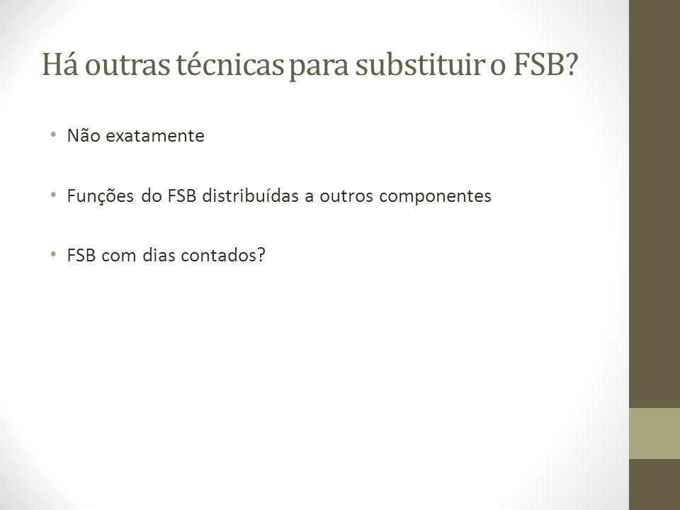 Há outras técnicas para substituir o FSB? Não exatamente Funções do FSB distribuídas a outros componentes FSB com dias contados?