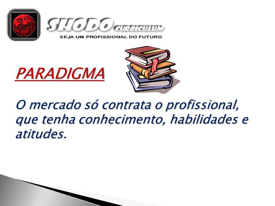 PARADIGMA O mercado só contrata o profissional, que tenha conhecimento, habilidades e atitudes.
