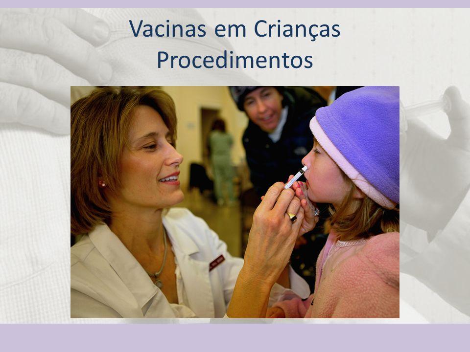 Vacinas em Crianças Procedimentos