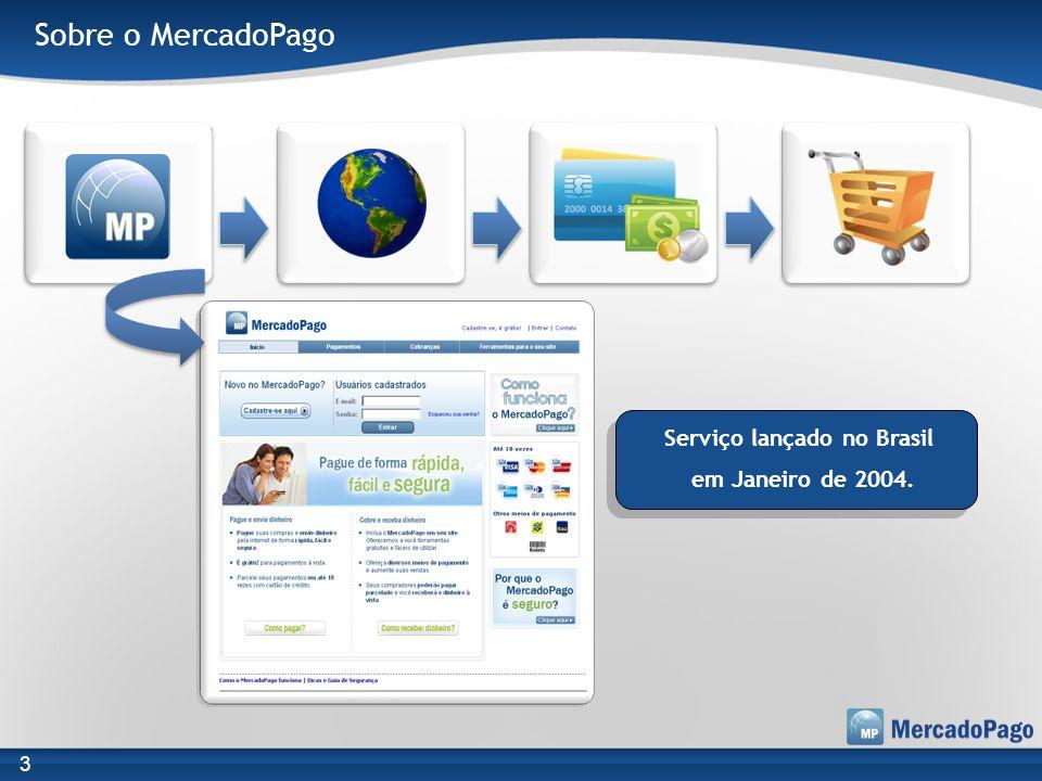 Sobre o MercadoPago Serviço lançado no Brasil em Janeiro de 2004. 3