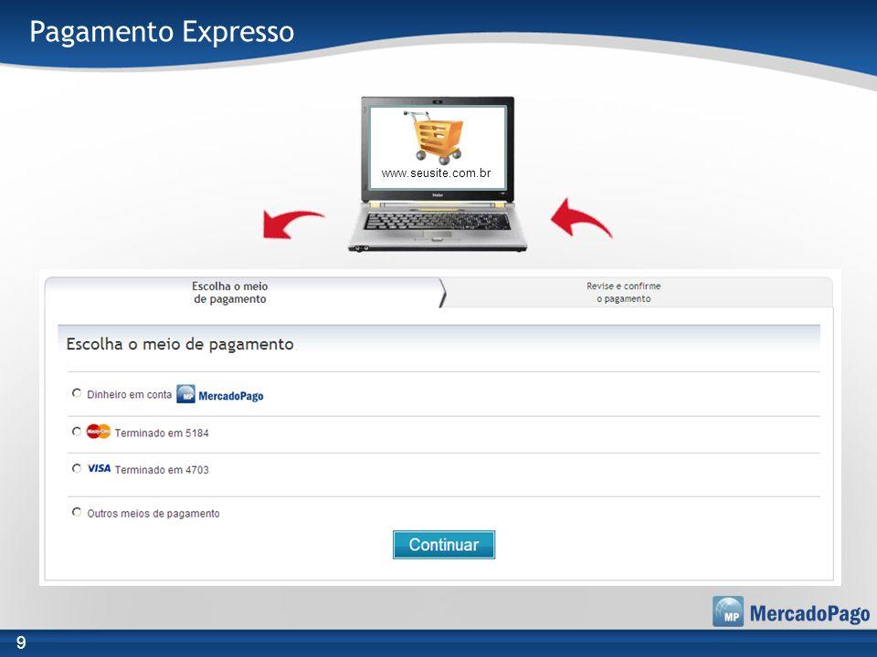 www.seusite.com.br 9 Pagamento Expresso