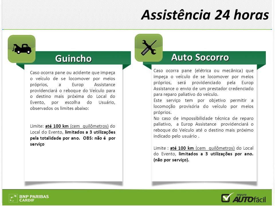 Guincho Caso ocorra pane ou acidente que impeça o veículo de se locomover por meios próprios, a Europ Assistance providenciará o reboque do Veículo pa