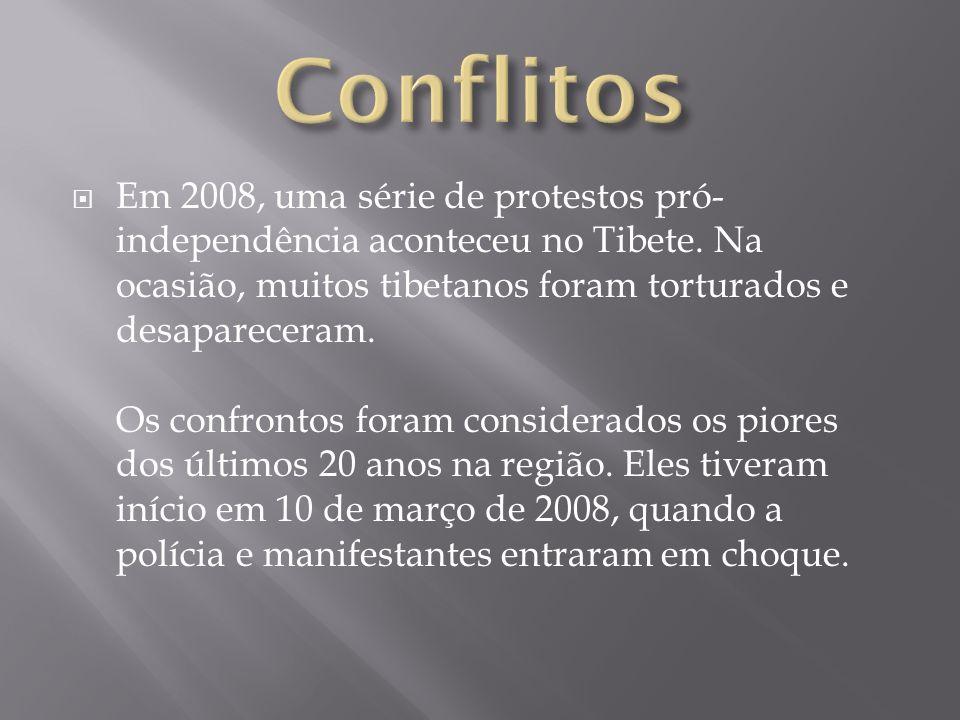 Em 2008, uma série de protestos pró- independência aconteceu no Tibete. Na ocasião, muitos tibetanos foram torturados e desapareceram. Os confrontos f