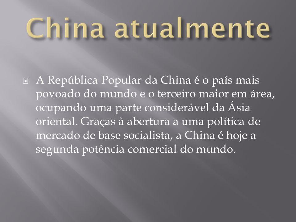 A República Popular da China é o país mais povoado do mundo e o terceiro maior em área, ocupando uma parte considerável da Ásia oriental. Graças à abe