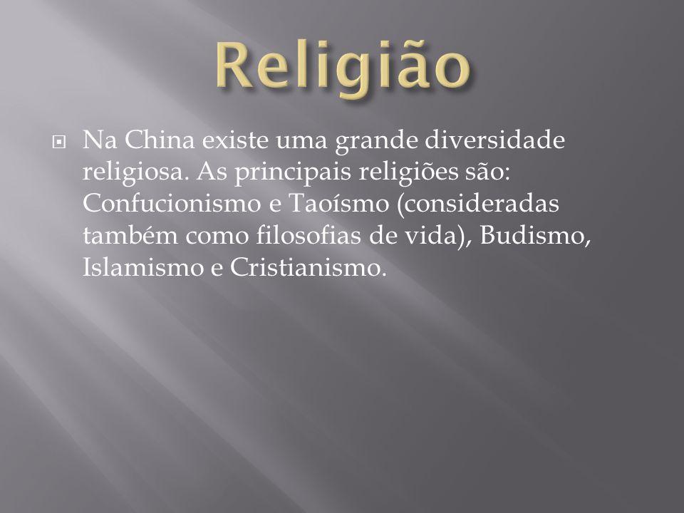 Na China existe uma grande diversidade religiosa. As principais religiões são: Confucionismo e Taoísmo (consideradas também como filosofias de vida),