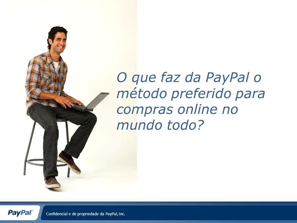 Confidencial e de propriedade da PayPal, Inc. O que faz da PayPal o método preferido para compras online no mundo todo?