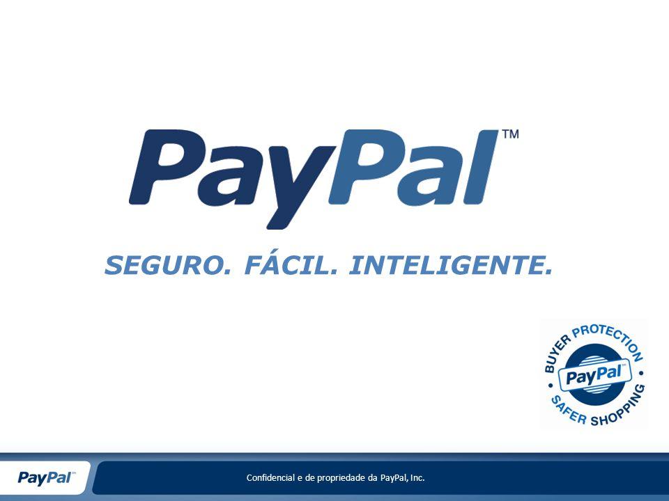 Confidencial e de propriedade da PayPal, Inc. SEGURO. FÁCIL. INTELIGENTE.