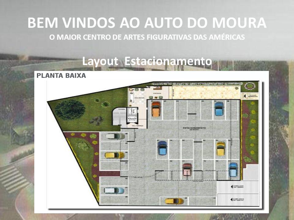 BEM VINDOS AO AUTO DO MOURA O MAIOR CENTRO DE ARTES FIGURATIVAS DAS AMÉRICAS Layout Estacionamento