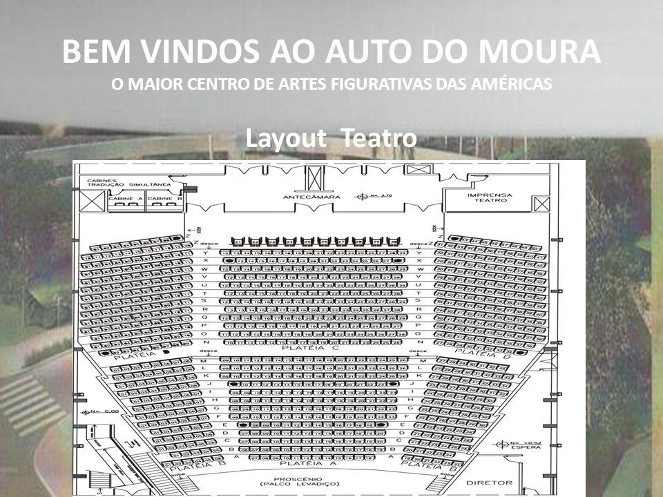 BEM VINDOS AO AUTO DO MOURA O MAIOR CENTRO DE ARTES FIGURATIVAS DAS AMÉRICAS Layout Teatro