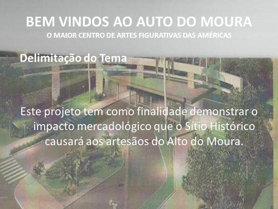 BEM VINDOS AO AUTO DO MOURA O MAIOR CENTRO DE ARTES FIGURATIVAS DAS AMÉRICAS Delimitação do Tema Este projeto tem como finalidade demonstrar o impacto