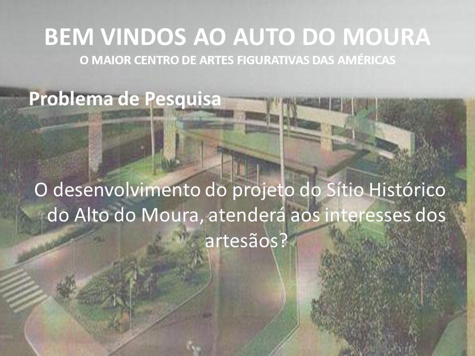 BEM VINDOS AO AUTO DO MOURA O MAIOR CENTRO DE ARTES FIGURATIVAS DAS AMÉRICAS Problema de Pesquisa O desenvolvimento do projeto do Sítio Histórico do A