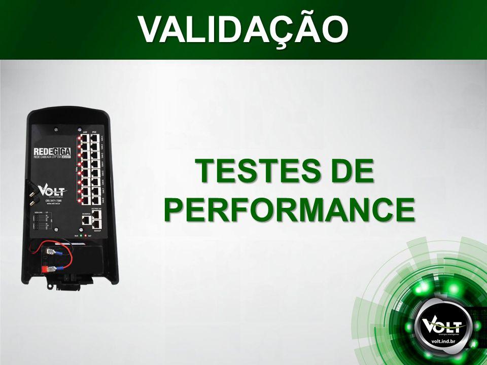 TESTES DE PERFORMANCE VALIDAÇÃO