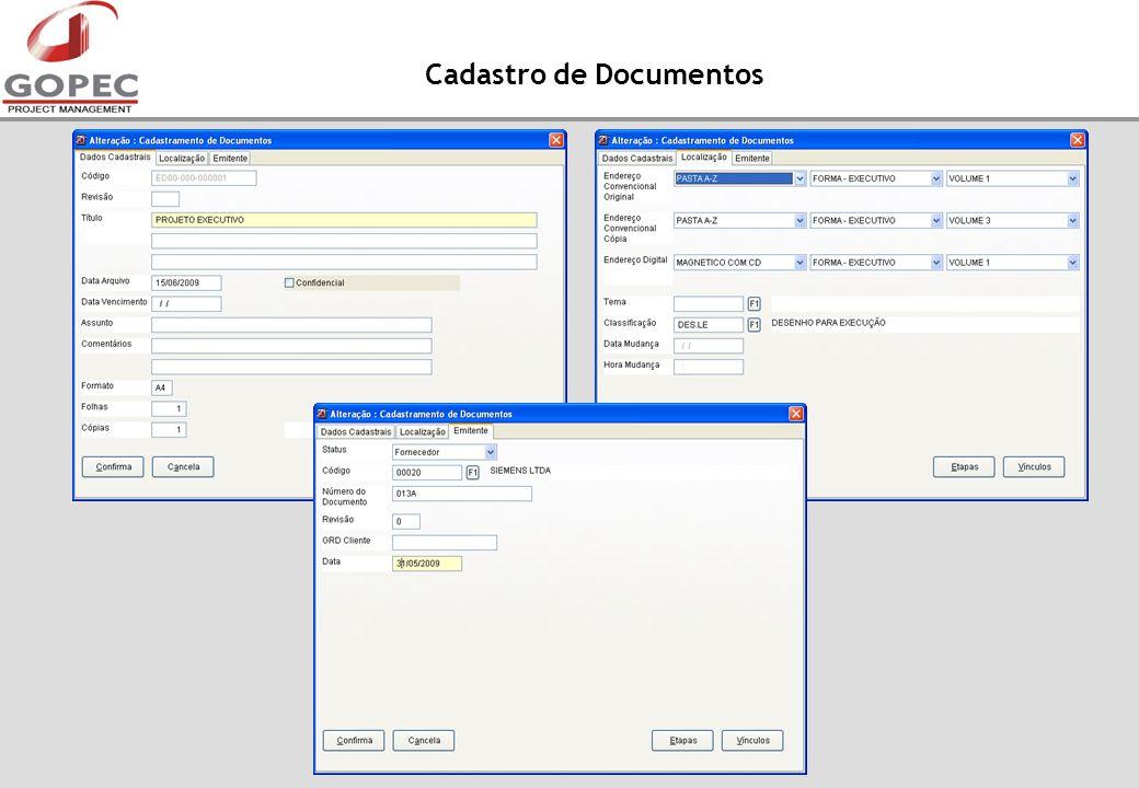 Cadastro de Documentos