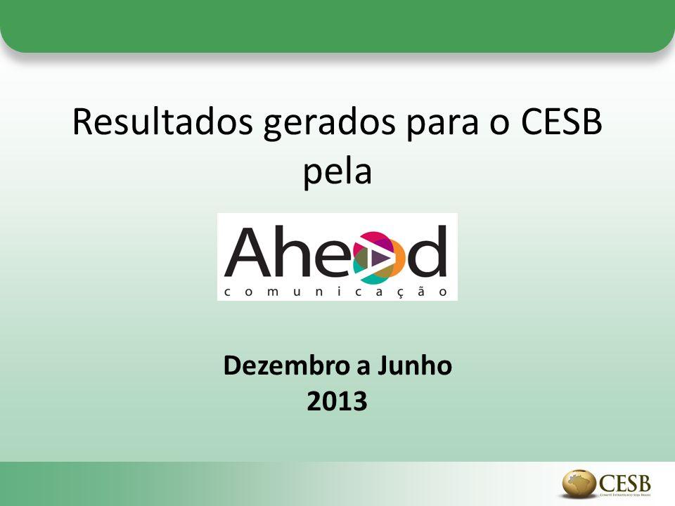 Resultados gerados para o CESB pela Dezembro a Junho 2013