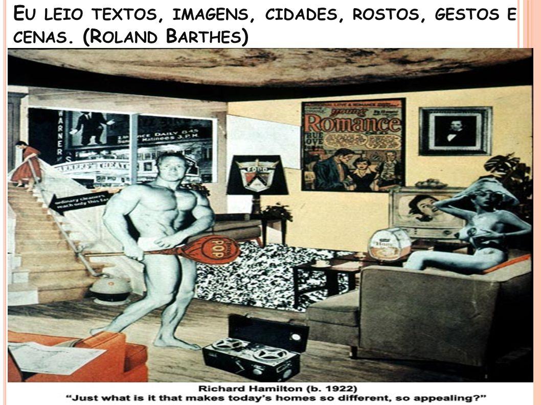 E U LEIO TEXTOS, IMAGENS, CIDADES, ROSTOS, GESTOS E CENAS. (R OLAND B ARTHES ) Escravo no Pelourinho sendo açoitado. Gravura de Debret, 1835.