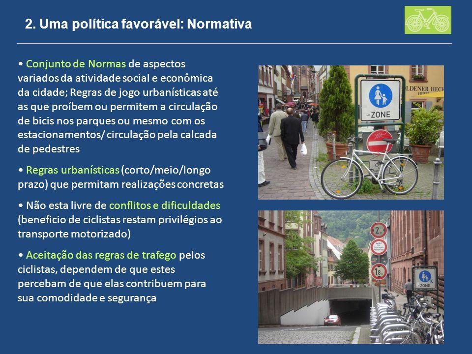 2. Uma política favorável: Normativa Conjunto de Normas de aspectos variados da atividade social e econômica da cidade; Regras de jogo urbanísticas at