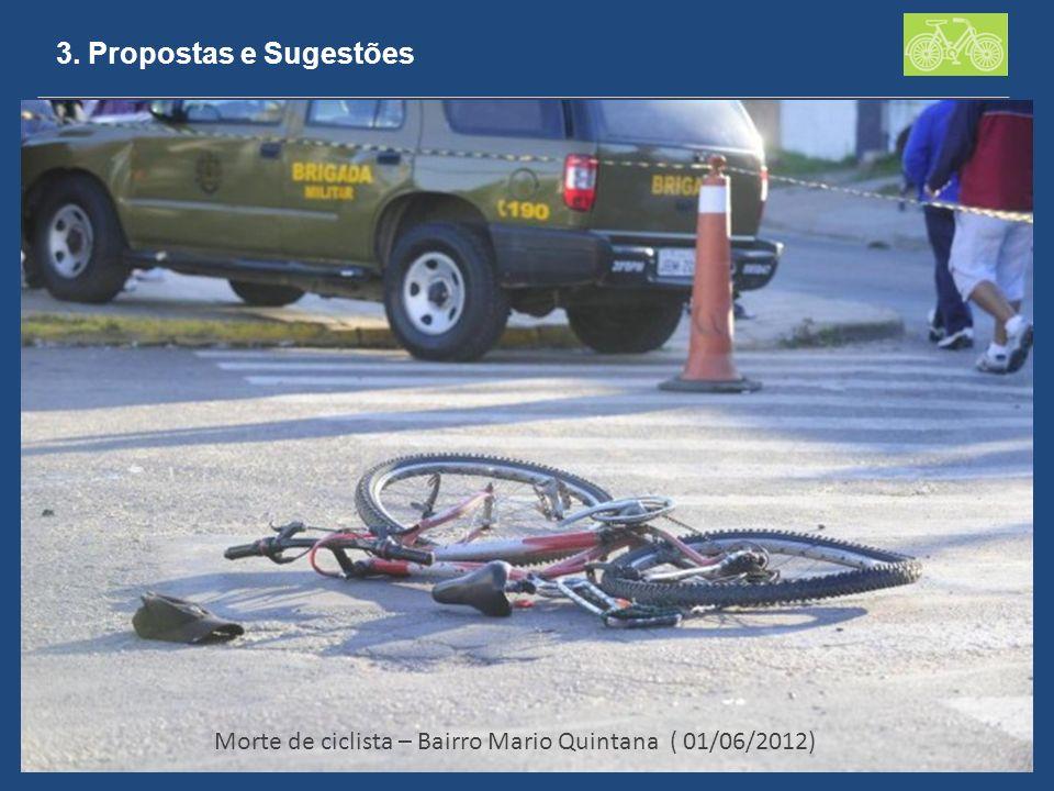 3. Propostas e Sugestões Morte de ciclista – Bairro Mario Quintana ( 01/06/2012)