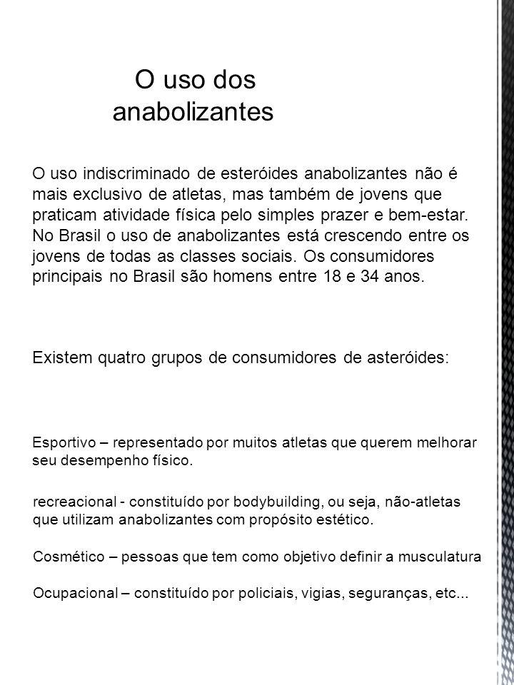 O uso indiscriminado de esteróides anabolizantes não é mais exclusivo de atletas, mas também de jovens que praticam atividade física pelo simples praz