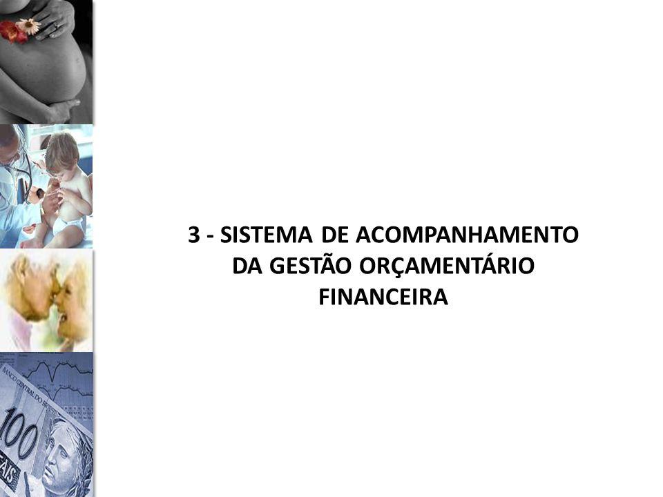 3 - SISTEMA DE ACOMPANHAMENTO DA GESTÃO ORÇAMENTÁRIO FINANCEIRA