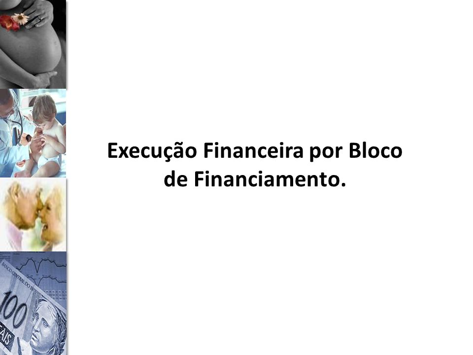 Execução Financeira por Bloco de Financiamento.