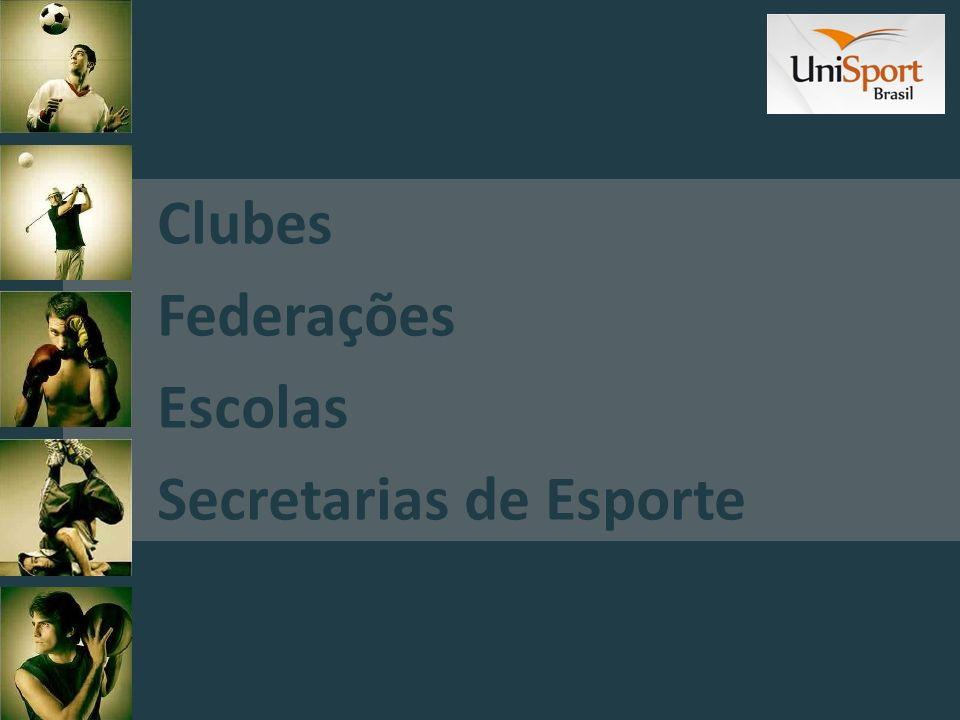 Clubes Federações Escolas Secretarias de Esporte