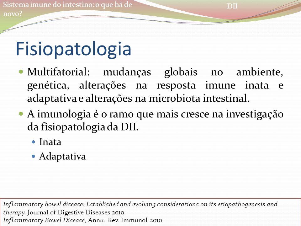 Sistema imune do intestino: o que há de novo? Fisiopatologia Multifatorial: mudanças globais no ambiente, genética, alterações na resposta imune inata