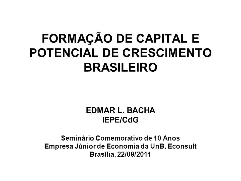 FORMAÇÃO DE CAPITAL E POTENCIAL DE CRESCIMENTO BRASILEIRO EDMAR L.