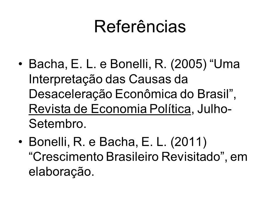 Referências Bacha, E.L. e Bonelli, R.