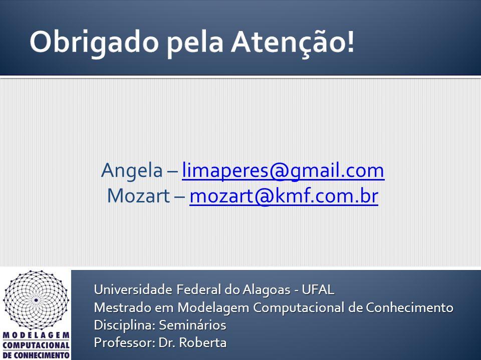 Angela – limaperes@gmail.comlimaperes@gmail.com Mozart – mozart@kmf.com.brmozart@kmf.com.br Universidade Federal do Alagoas - UFAL Mestrado em Modelag