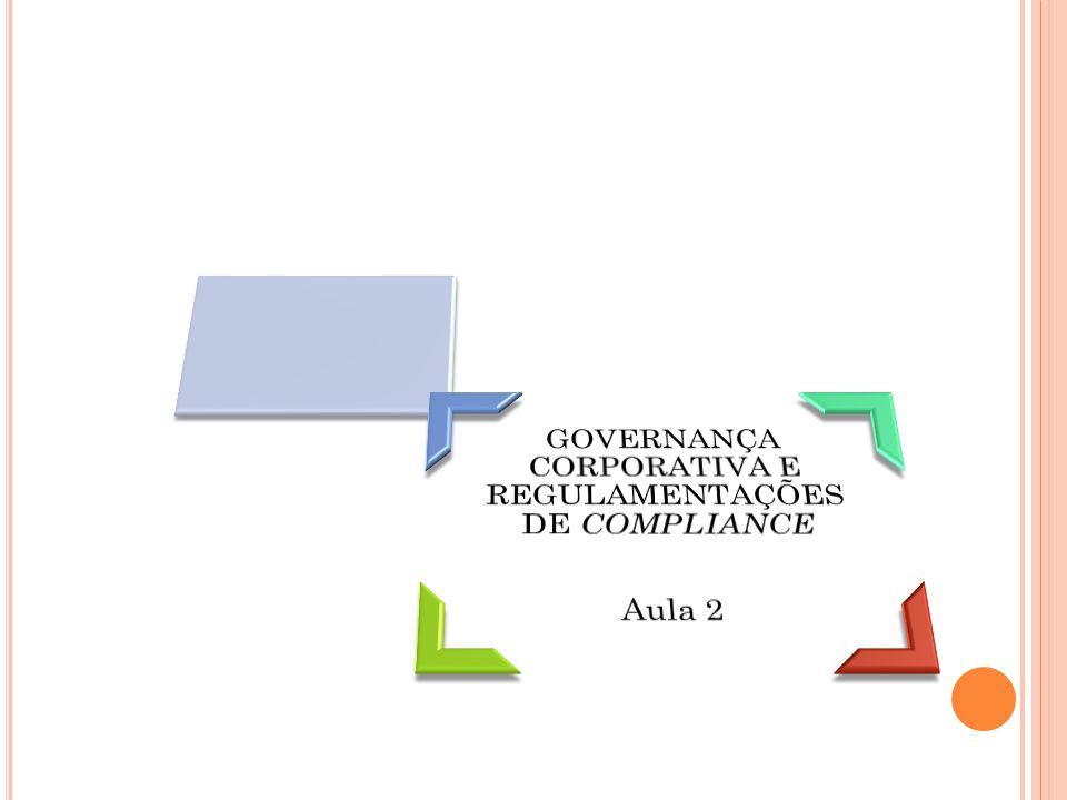 IntroduçãoGovernança Corporativa e a ligação com a Governança de TIImplicações do Sarbanes-Oxley Act (Lei SOX)Finalidade da Lei SOXRequisitos do SOX que afetam a TIImpacto do SOX na Governança de TIAcordo da Basileia IIImplicações do Acordo da Basileia II sobre a TIImpacto da Resolução 3380 do BACEN Agenda