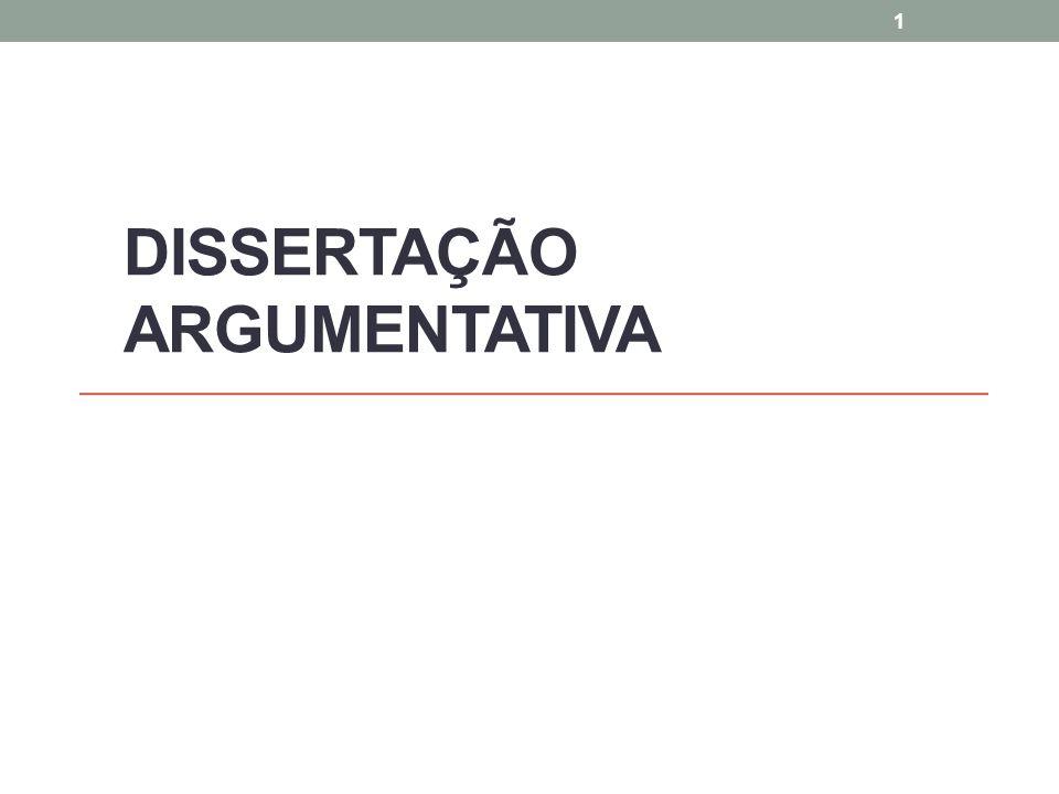 DISSERTAÇÃO ARGUMENTATIVA 1