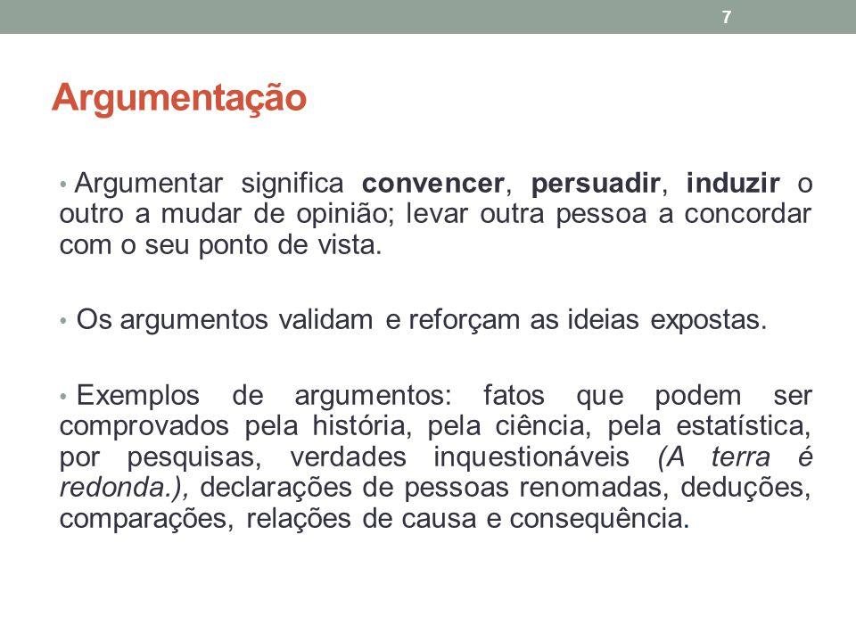 Situações do cotidiano em que usamos a argumentação Estudantes: redação de textos das disciplinas, exames públicos (Enem, Encceja).