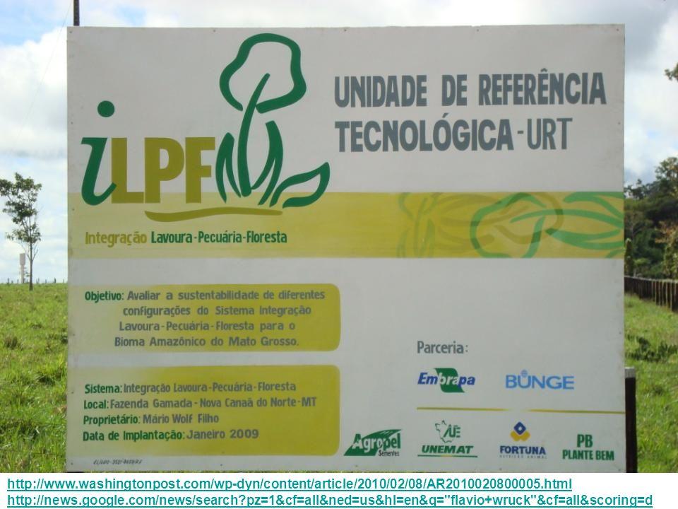 URT iLPF – NOVA CANAÃ DO NORTE (MT) PROJETOS VINCULADOS: Transferência de Tecnologias para Integração Lavoura-Pecuária-Floresta - iLPF Integração Lavoura-Pecuária: Uma proposta de produção sustentável para a Região do Cerrado e áreas de influência – PRODESILP GRUPO GESTOR TÉCNICO: Flávio Jesus Wruck, Eng.