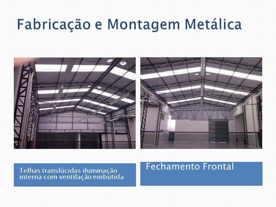 Telhas translúcidas iluminação interna com ventilação embutida Fechamento Frontal