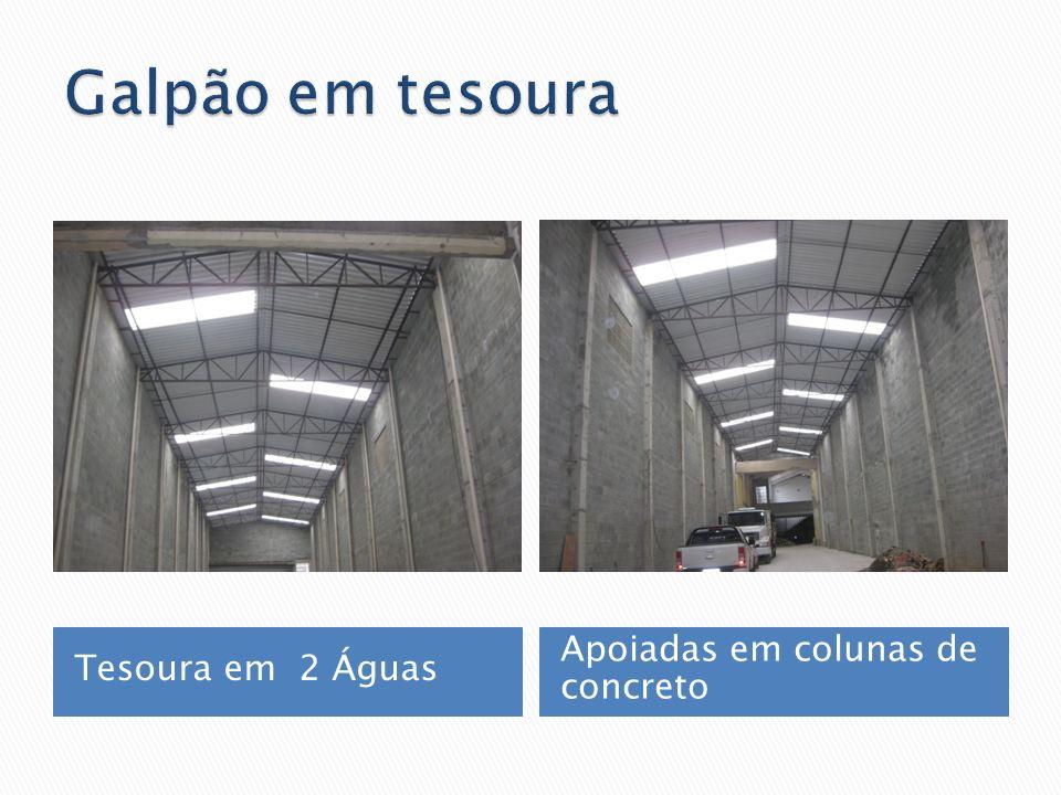 Tesoura em 2 Águas Apoiadas em colunas de concreto
