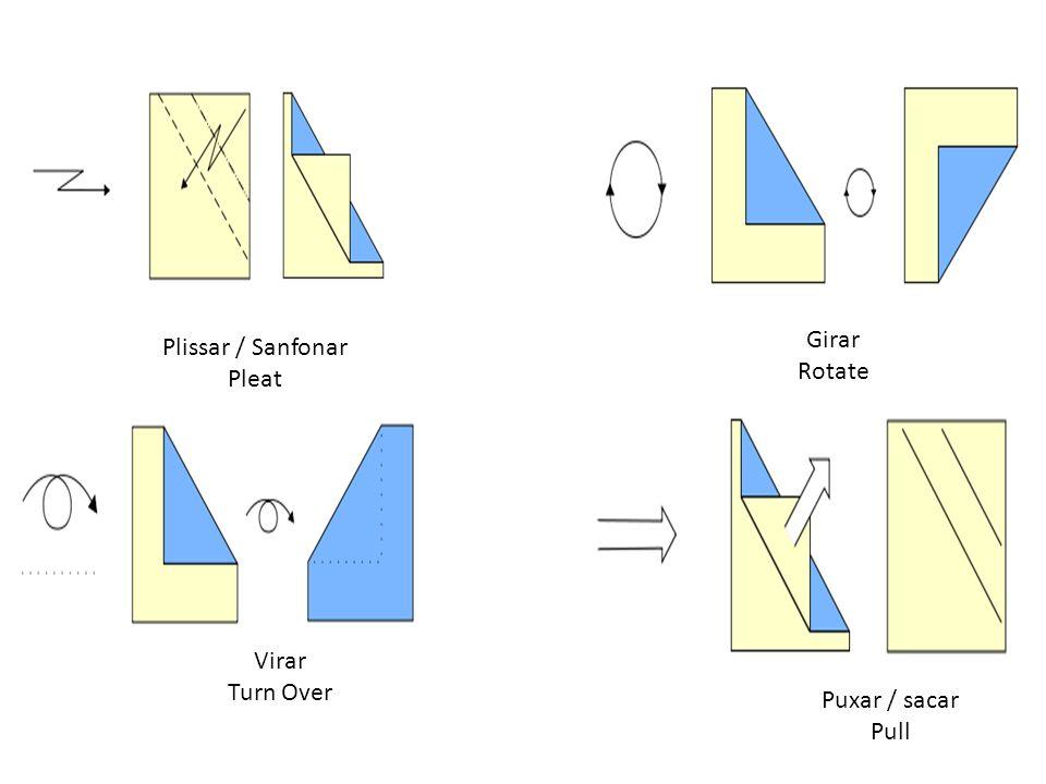 Plissar / Sanfonar Pleat Girar Rotate Virar Turn Over Puxar / sacar Pull