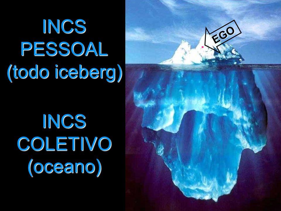 INCS PESSOAL (todo iceberg) EGO. INCS COLETIVO (oceano)