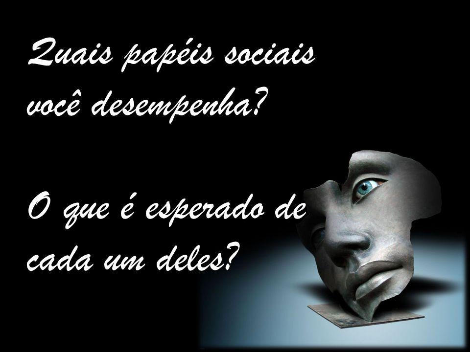 Quais papéis sociais você desempenha? O que é esperado de cada um deles?