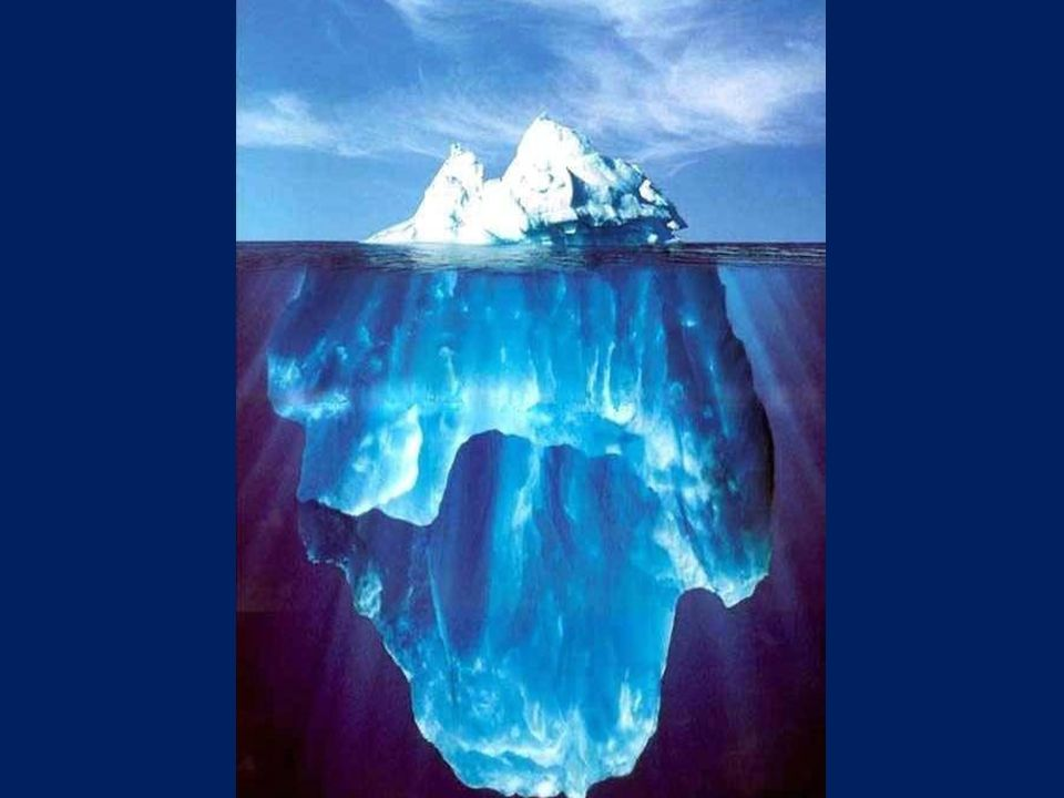 A ponta do iceberg (10%) EGO.